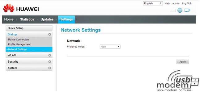 налаштування мережі huawei ec315