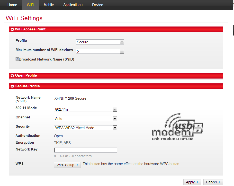 Домашняя страница администратора Novatel MiFi 4082