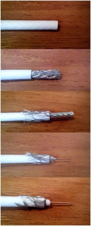 Инструкция по зачистке кабеля для антенны Фото 3