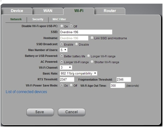 статус wifi подключения