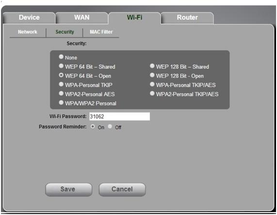 тип шифрования wifi сети