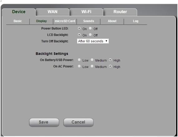 установка интервала для перехода в ждущий режим sierra w801