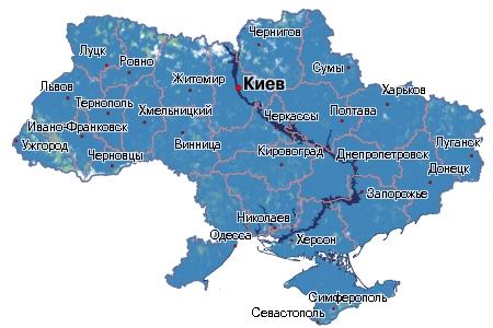 Карта покрытия Киевстар