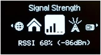 уровень сигнала сети оператора в роутере novatel mif i4620l