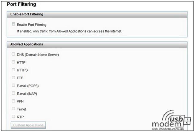 port filtering novatel mifi 4510l