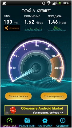 замер скорости интернета с помощью speedtest.net novatel mi fi 4510l
