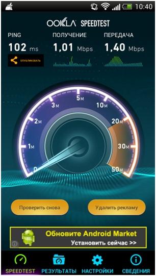тест скорости в помещении novatel mi fi 4510l