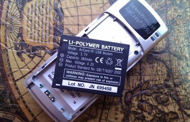 встроенный аккумулятор в 3g модеме