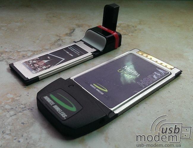 один из видов 3g модемов pcmcia и expresscard