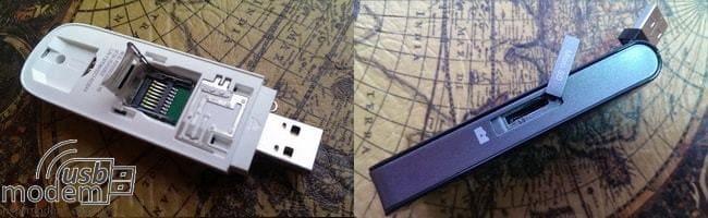 слот для карты памяти Micro SD в 3g модеме