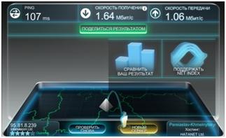 показатели скорости интернета в помещении